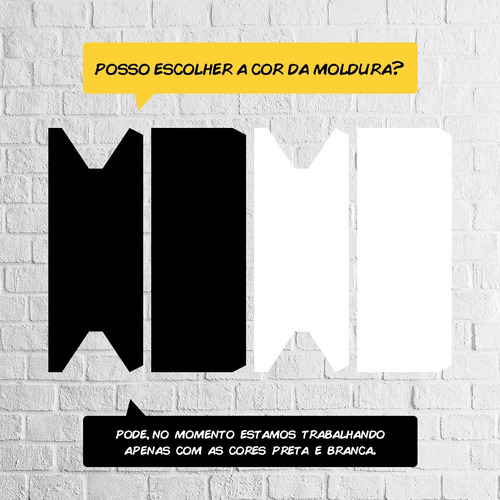 kit 10 quadros decorativos moldura papel color plus + brinde