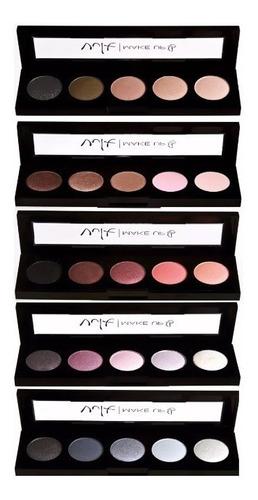 kit 10 quinteto de sombras vult maquiagem paleta mistery
