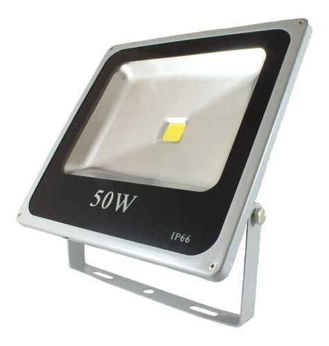 kit 10 refletor 50w led slim holofote brancofrio prova dágua