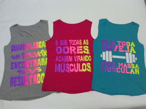 kit 10 regata regatinhas blusas femininas estampadas fitness