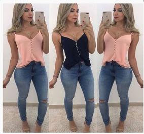 f821fd19cd Blusas De Verao - Blusas Regatas para Feminino no Mercado Livre Brasil