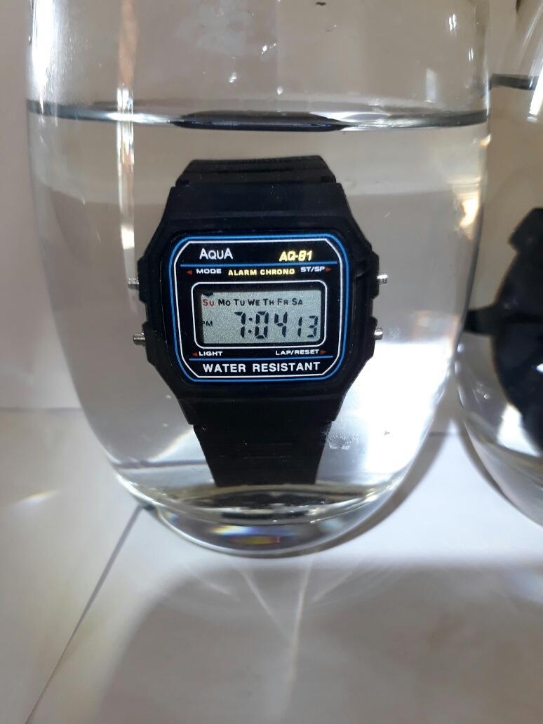 016cb5b3e74 Kit 10 Relógio Aqua (original) Prova D agua + Frete Grátis. - R  129 ...