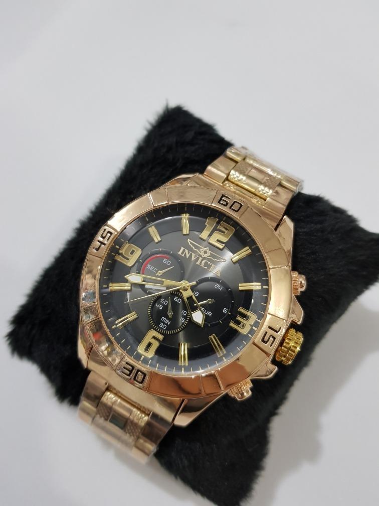 ba7bdd353d8 kit 10 relógio masculino dourado prata pesado barato atacado. Carregando  zoom.