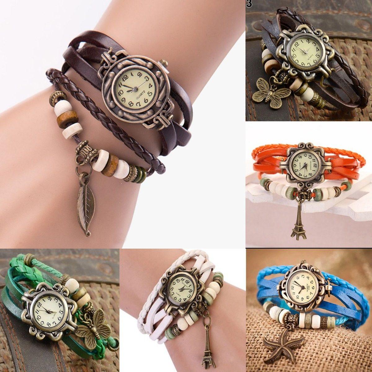3899476eed7 Kit 10 Relógio Pulseira De Couro