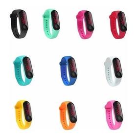 Kit 10 Relógio Pulseira Esporte Digital Led Colors Atacado