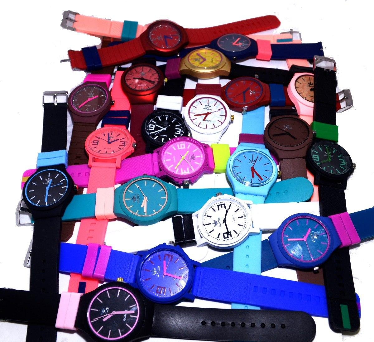 1dc0be944ee Kit 10 Relógios adidas Multicolor Pulseira Silicone +brinde. - R ...