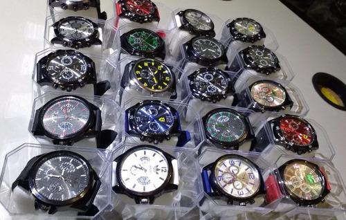 kit 10 relógios atacado revenda pulseira silicone + caixa
