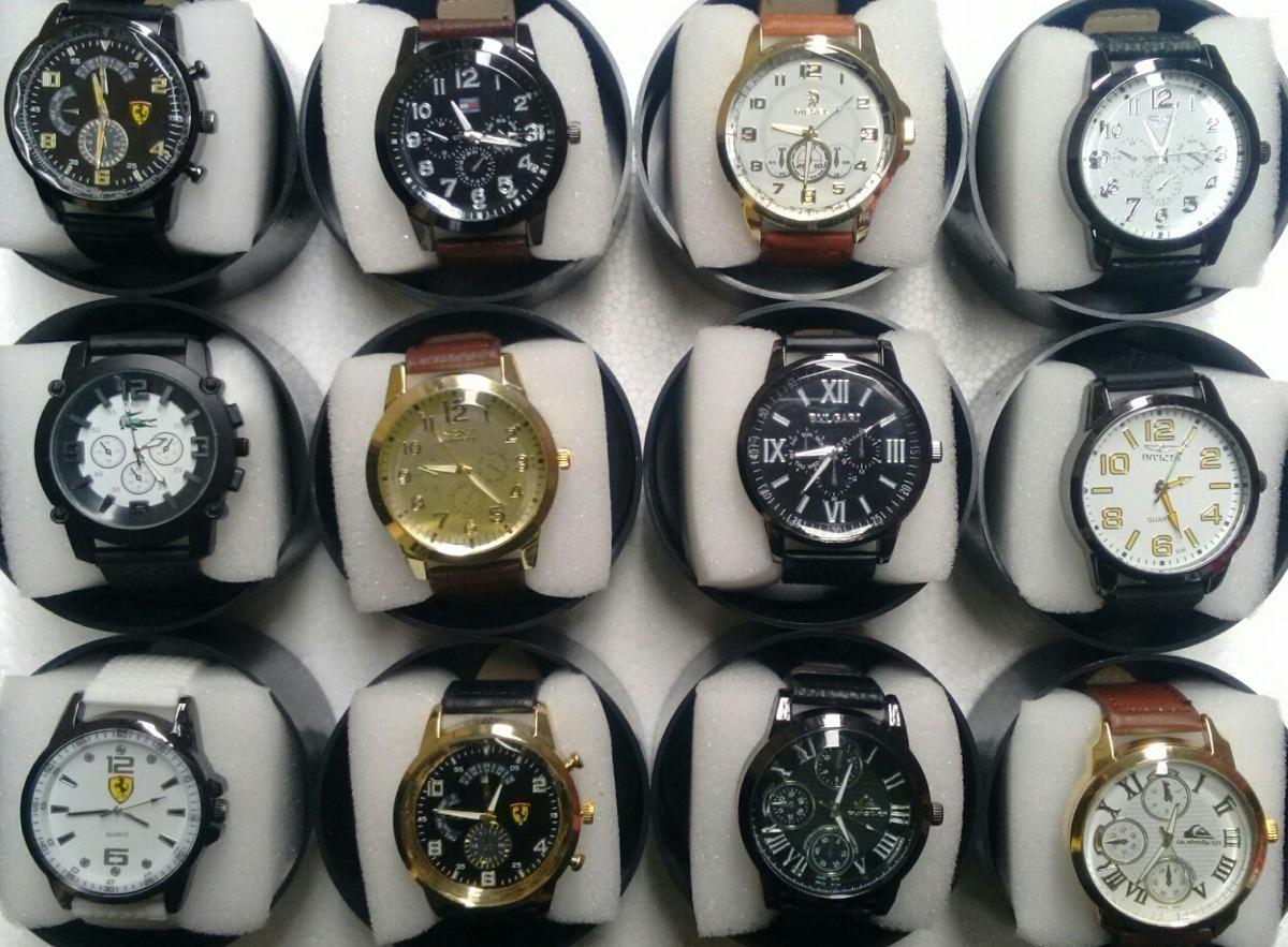 b29c0201255 Kit 10 Relógios Couro Sintético + Caixa Atacado E Revenda - R  175 ...