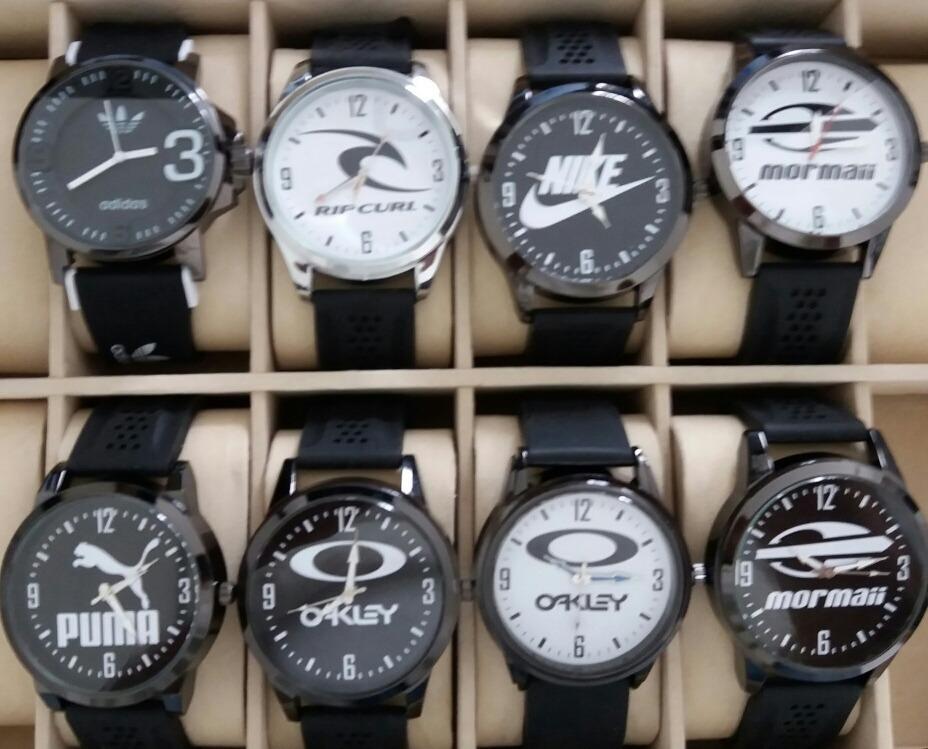 0b77b9081f4 kit 10 relógios de pulso masculinos várias marcas. Carregando zoom.