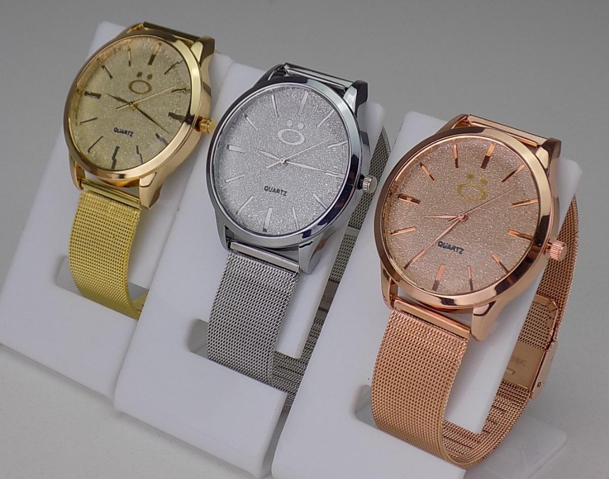 e550b7940f9 kit 10 relógios feminino rosê dourado original revenda. Carregando zoom.