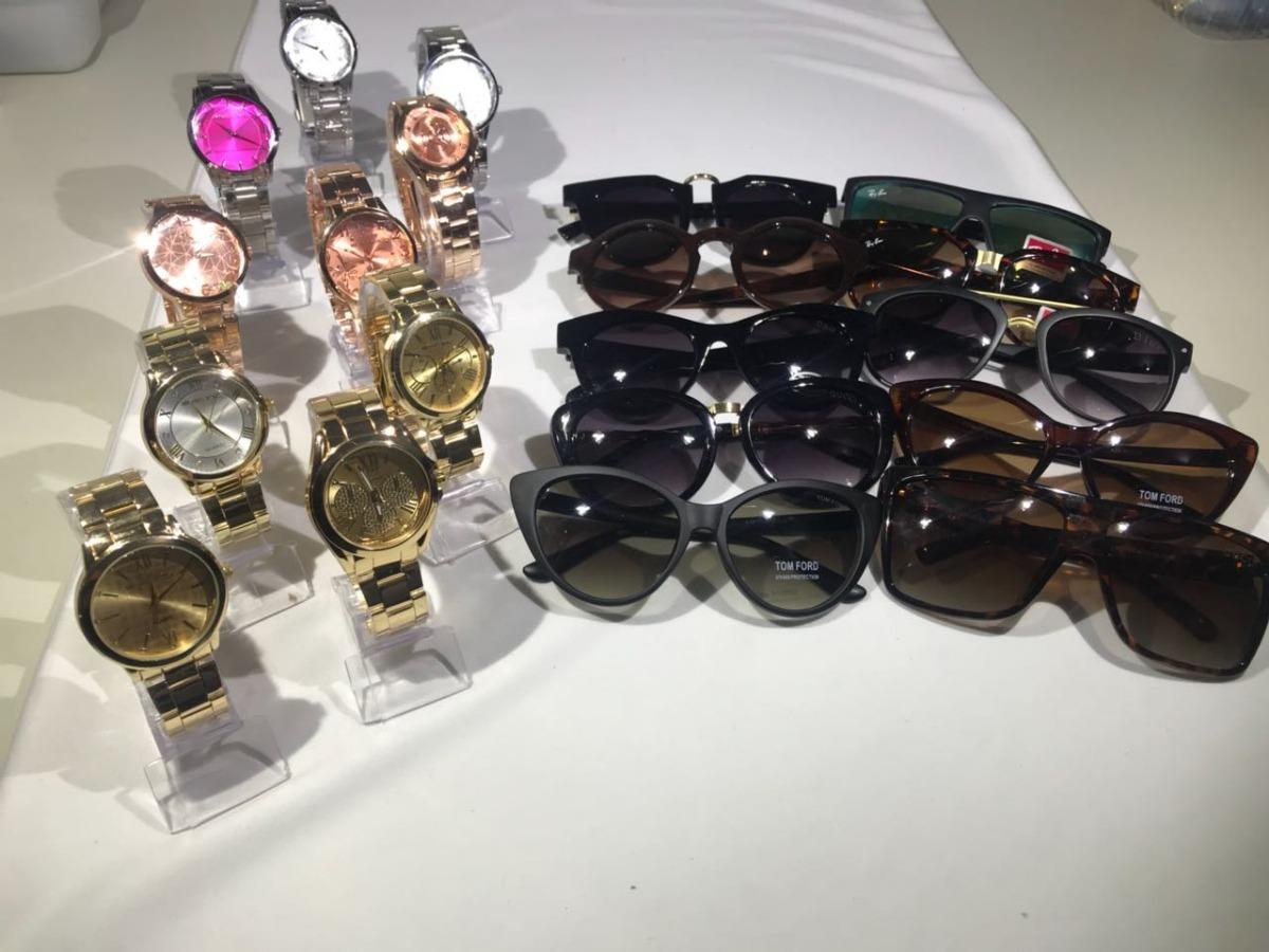 24830385bdc91 Kit 10 Relógios Femininos +10 Óculos Femininos Para Revenda - R  249 ...