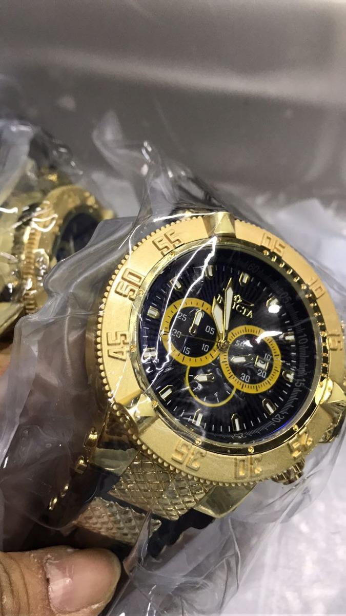 63a42cf837b kit 10 relógios invicta dourado pesado grande atacado barato. Carregando  zoom.