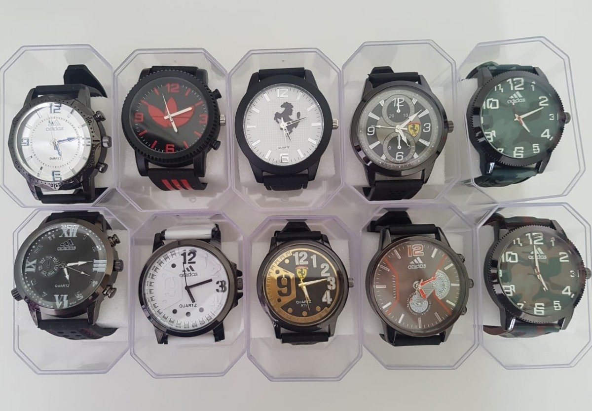 3d618e05815 kit 10 relógios masculino atacado revenda lote. Carregando zoom.