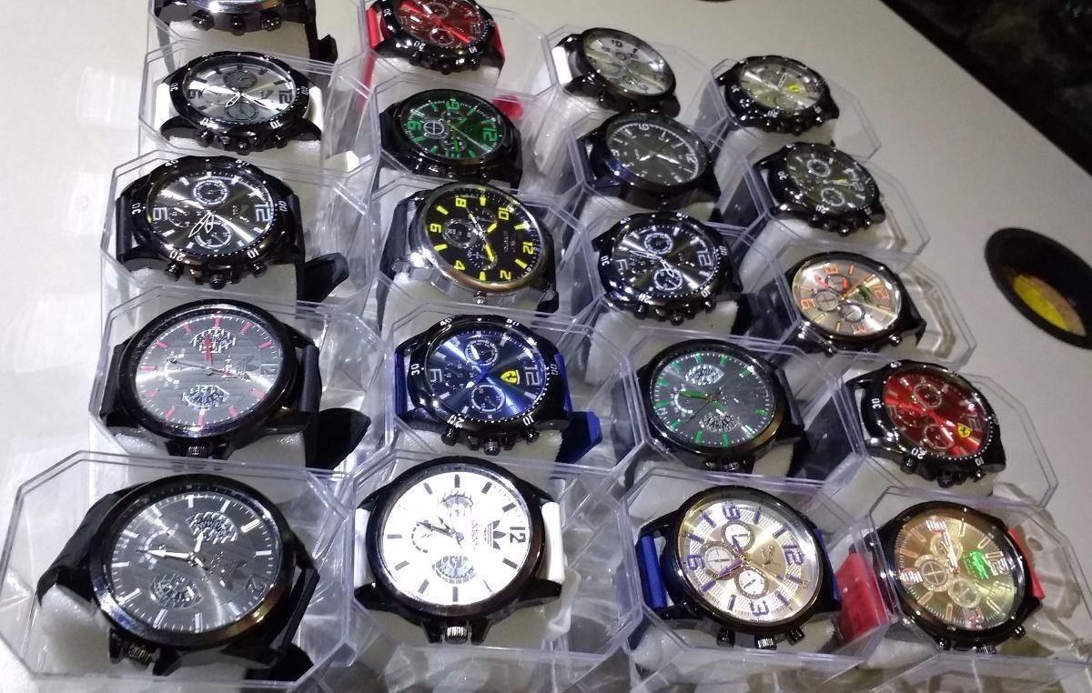 92f5ce053c4 kit 10 relógios masculino bonitos silicone + caixa atacado. Carregando zoom.