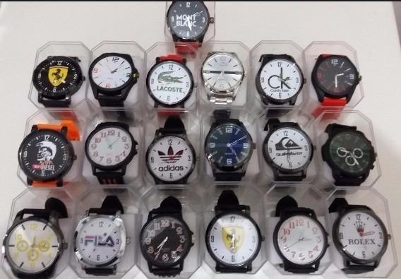 be0f1c6e322 Kit 10 Relógios Masculino Bonitos Silicone + Caixa Revenda - R  140 ...