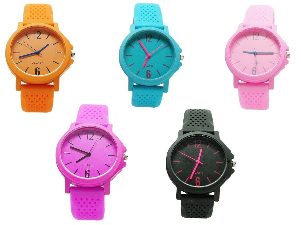 6cc3e7ba527 Kit 10 Relógios Pulseira Borracha Feminino Revenda Barato - R  139 ...