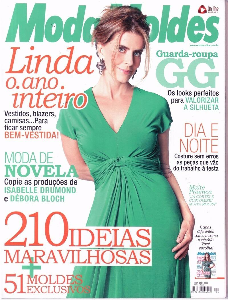 35f49aaa28 Kit 10 Revistas Moda Moldes Roupa Corte E Costura Novas - R  66