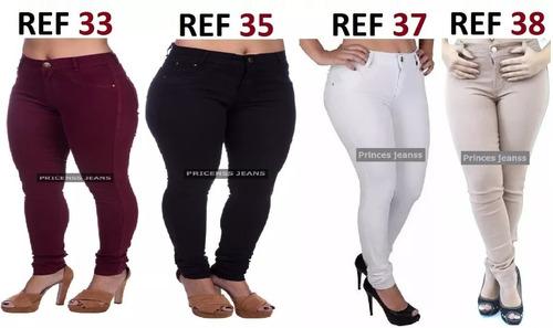 kit 10 roupas feminina calça jeans cintura revenda atacado