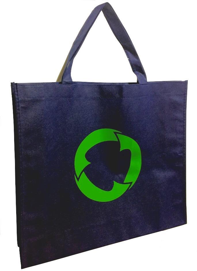 51f3e8d97 kit 10 sacolas bolsa ecológicas - tnt - reutilizável - azul. Carregando zoom .