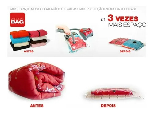 kit 10 sacos vacuum bag embalagem a vácuo grande 85x53 cm