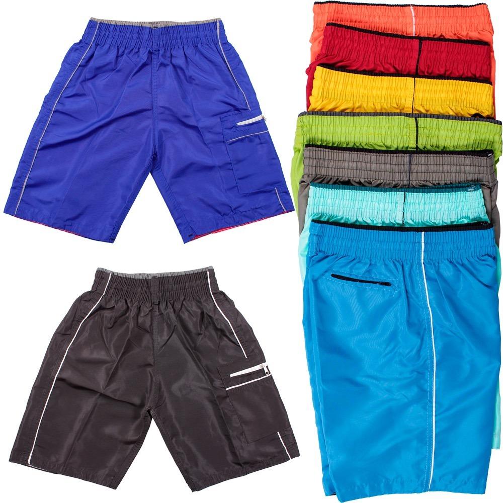 fa09741e0f6e0 Kit 10 Short Infantil Masculino Esporte Tactel Atacado Kids - R  125 ...