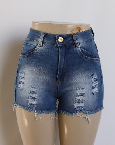 3d1073ea1 Kit 10 Short Jeans Femininos Cintura Alta Hot Pants Atacado - R  427 ...