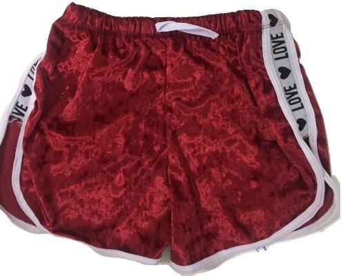 kit 10 shorts curto lateral love atacado lucre