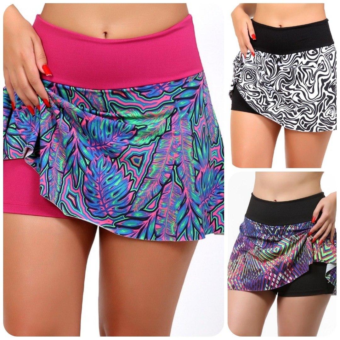 2ab72de7d kit 10 shorts saia fitness roupas de academia feminina. Carregando zoom.