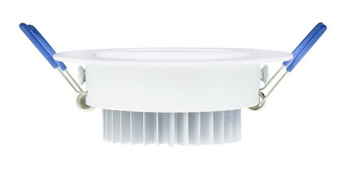 kit 10 spot led 3w redondo branco quente gesso sanca teto