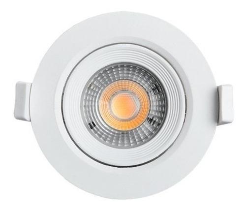 kit 10 spot led 5w dicroica quadrado lâmpada direcionavel
