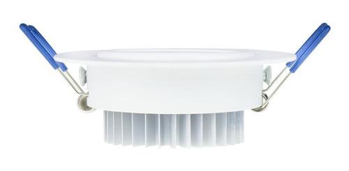 kit 10 spot super led 3w redondo embutir branco frio gesso