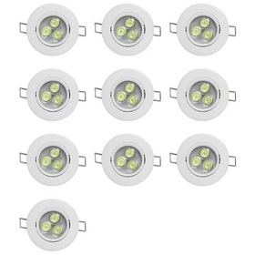 Kit 10 Spots Led 3w Bf Ou Bq Redondo - Luz E Leds