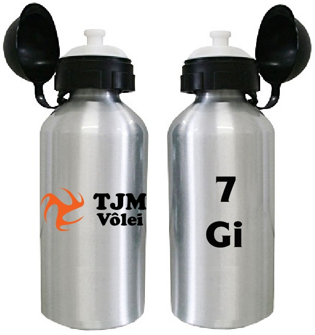f378f662c Kit 10 Squeezes Personalizados Inox 500ml Garrafa Academia - R  299 ...