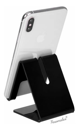 kit 10 suporte universal celular smartphone expositor mesa