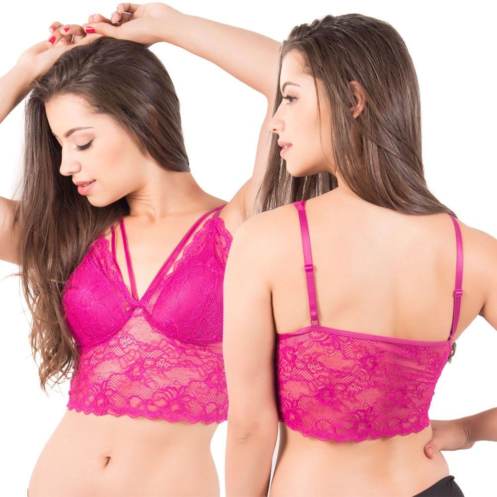 ec2df4aec kit 10 sutiã soutien cropped renda strappy lingerie feminino. Carregando  zoom.