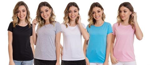 kit 10 t-shirts blusas feminina roupas atacado revenda