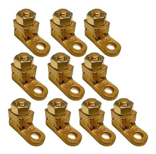 kit 10 terminais sapata aperto pressão p/ cabos 95mm fundido