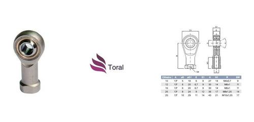 kit 10 terminal rotular esférico ponteira rosca fêmea m6 x 1