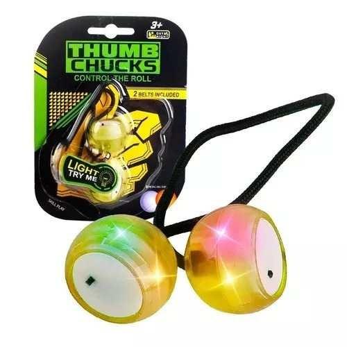 kit 10 thumb chucks de led febre do momento atacado.