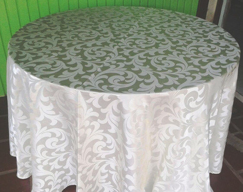 kit 10 toalhas redondas cetim jacquard 3,00 mt diâmetro