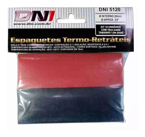 kit 10 tubo isolante espaguete termo-retrátil 20mm dni-5120