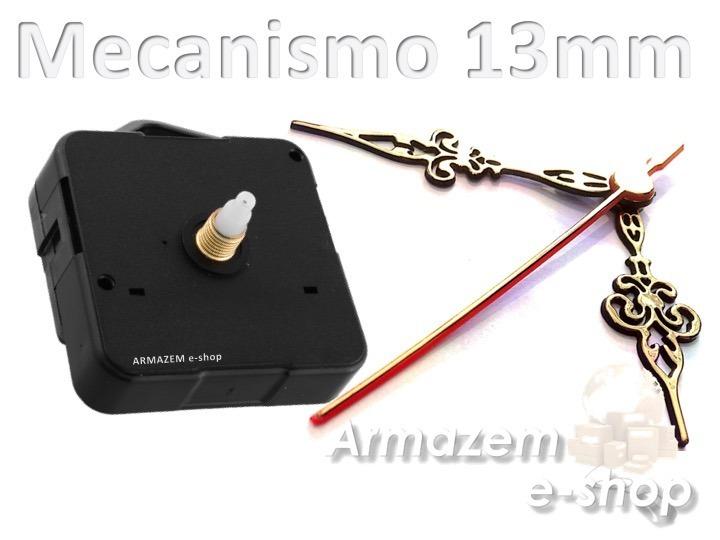 6e38675b150 Kit 10 Uni Da Maquina Relógio Quartz Continuo Com Eixo 13mm - R  64 ...