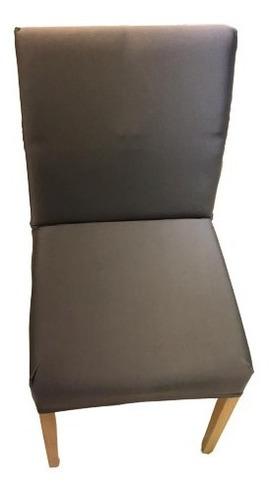 kit 10 unidades capa de cadeira cinza - malha resistente