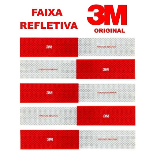 kit 10 unidades faixa refletiva lateral 3m original