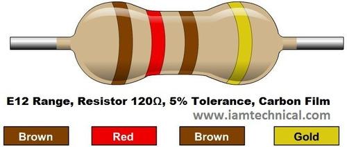 kit 10 x resistor 120 ohm 5% 1/4w 0,25w 120r arduino pic