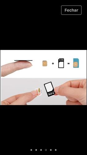 kit 100 adaptador de chip 3em1 celular mini.micro e nano sim