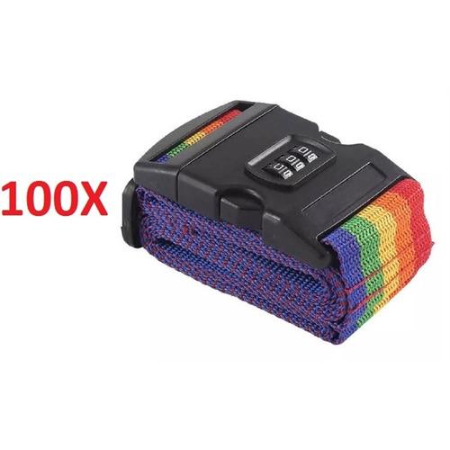 kit 100 cadeado cinta fechar mala codigo fita para bagagem