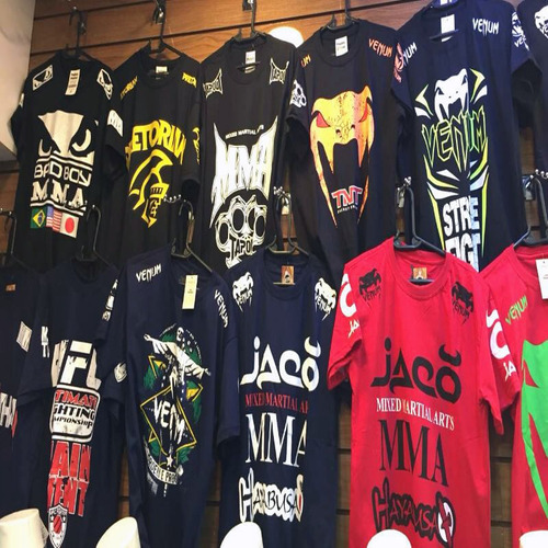 kit 100 camisa camiseta masculina mma-ufc luta top atacado