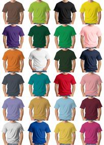 67d3c2d62 Lote Camisetas Lisa 100% Algodão Varias Cores Lotes De 30 Pç - Calçados,  Roupas e Bolsas com o Melhores Preços no Mercado Livre Brasil