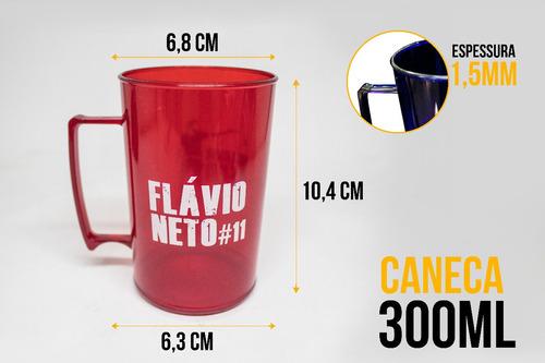 kit 100 canecas chopp 300ml pequena personalizadas acrílica